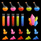Collection of colorful alchemy elements — Stock Vector