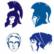 Illustrations of people of Ancient Greece or Rome — Stock Vector