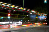 Night, road, intersection — Stock Photo