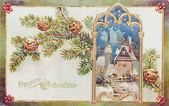 Kartka pocztowa, starożytnych, niemiecki, 1909 — Zdjęcie stockowe