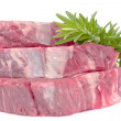 Rosemary on beef fillet steck — Stock Photo #30596897