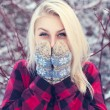 Beautiful Girl in Snow — Stock Photo