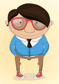 Hipster vector illustration — Stock Vector