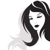 Girl with long hair — Stock Vector