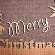 Christmas decoration over grunge background — Stockfoto