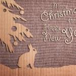 Christmas decoration over grunge background — Stock Photo #33929839