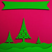 Christmas background with tree, illustration. — Foto Stock