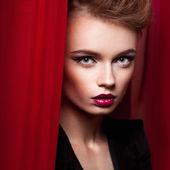 Portrait of beautiful blonde woman — Stock Photo