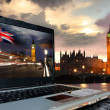 London with Big Ben and houses of Parliament, England — Stock Photo #13155975