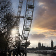 Famous Big Ben in the evening with bridge, London, England — Stock Photo #13156768