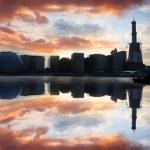Modern London cityscape at evening, LONDON, UK — Stock Photo #13159174