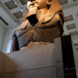 Ancient Egyptian Pharaoh's Statue in a museum in london england — Foto de Stock