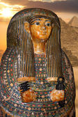Ancient Egyptian Pharaoh's Statue in a museum in london england — Stock Photo