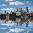Modern London cityscape with boat, LONDON, UK — Stock Photo #16773095