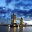 Famous Tower Bridge in the evening, London, England — Stock Photo #16773533