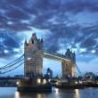 Stock Photo: Famous Tower Bridge in evening, London, England