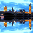 Famous Big Ben in the evening with bridge, London, England — Stock Photo #16783017