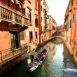Venice with gondolon canal in Italy — Stock Photo #16801393