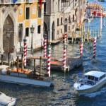 威尼斯、 京杭运河与大教堂圣玛丽亚 della 致敬,意大利 — 图库照片