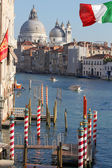 Venice, Grand Canal with Basilica Santa Maria della Salute, Italy — Stock Photo
