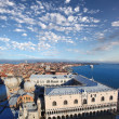 Panorama of Venice with Doges palace in Italy — Stock Photo