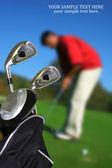 Muž hrát golf — Stock fotografie