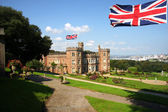 Traditional english castle, Mount Edgcumbe, Plymouth, Uk — Stock Photo