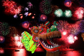 Chinese New Year Festival with dragon — Stock Photo