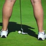 Man spielt Golf — Stockfoto