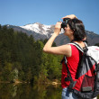 Tourist women during spring time — Stock Photo