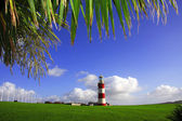 Beautiful lighthouse in Plymouth, UK — Stock Photo