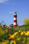 Famous Lighthouse in Plymouth, Devon, England — Zdjęcie stockowe