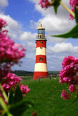 Famous Lighthouse in Plymouth, Devon, England — 图库照片