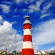 Plymouth with colorful lighthouse in Devon, England — Stock Photo #17154055