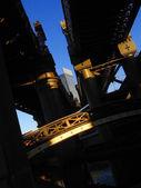 Manchester s železničního mostu v anglii — Stock fotografie