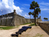 форт кастильо де сан маркос в санкт-августин, штат флорида, сша — Стоковое фото