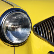 Detail of the yellow old car — Stock Photo