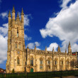 Manchester with cathedral in England — Stock Photo