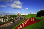 Colorful Lighthouse in Plymouth, Devon, England — Stock Photo