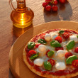 Traditional Italian pizza with tricolor — Foto de Stock