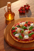 Traditional Italian pizza with tricolor — Stock Photo