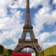 Eiffel Tower with park in Paris, France — Stock Photo