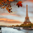 Eiffel Tower with boat in Paris, France — Stock Photo #31234607