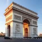 Famous Arc de Triomphe in autumn, Paris, France — Stock Photo