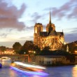 Notre Dame de Paris in the evening, France — Stock Photo