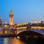Bridge of Alexander III in Paris in France — Stock Photo #46405559