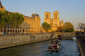 Notre Dame cathedral in spring time, Paris, France — Stock Photo