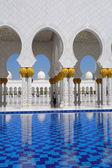 Sheikh Zayed mosque in Abu Dhabi, United Arab Emirates, Middle East — Stock Photo