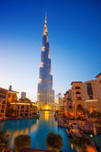 Burj Al-Khalifa is the tallest building in Dubai and in the world, UAE — Stock Photo