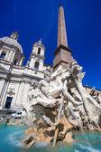 Κρήνη των τεσσάρων ποταμών στην Πιάτσα Ναβόνα, Ρώμη, Ιταλία — Φωτογραφία Αρχείου